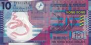 10 Dollars (polymère) – avers