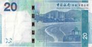 20 dollars (Bank of China) – revers