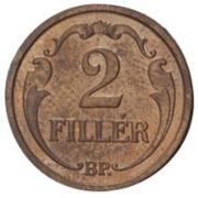 2 fillér -  revers