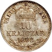 10 krajczar - Franz Joseph I -  revers