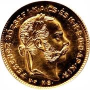10 francs / 4 forint - Franz Joseph I -  avers