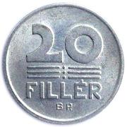 20 fillér (petit module) -  revers