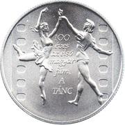 """3000 Forint (100ème anniversaire du premier film hongrois, """"La Danse"""") -  avers"""