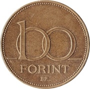 100 forint -  revers