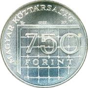 750 forint Coupe du monde de football France 1998 -  avers