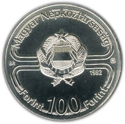 100 forint -  avers