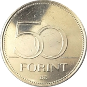 50 Forint (Championnats du monde de natation 2017) -  revers