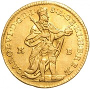 1 Dukát - III. Károly (1705-1711) -  avers