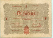 5 Forint (Kossuth bankó) – avers