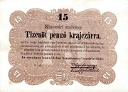 15 Krajczár - Treasury Note – avers