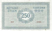 250 Korona (Princess Zita) – revers