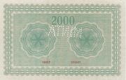 2000 Korona (Princess Zita) – revers