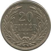 20 fillér - Franz Joseph I -  revers
