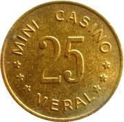 Meral Mini Casino token – avers