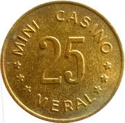 Meral Mini Casino token – revers