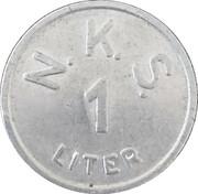 1 Liter - N. K. S. (Nagykanizsa) – avers