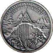 Memorial Student Medallion - Maria Theresia (Metallurgic Academy of Selmec) – revers