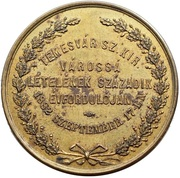 Temesvár anniversary medal – avers