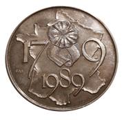 Médaille - Bicentenaire de la Révolution française – revers