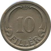 10 fillér -  revers