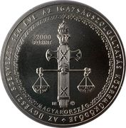 2000 Forint (The 150th anniversary of the foundation of an independent prosecutors' organisation in Hungary) -  avers