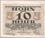 10 Heller (Horn) -  avers