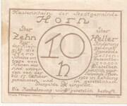 10 Heller (Horn) -  revers