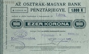 1000 Korona (Cash ticket, Kolozsvár) – avers