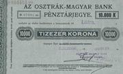 10 000 Korona (Cash Ticket, Kolozsvár) – avers
