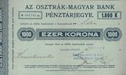 1000 Korona (Cash ticket, Szatmár-Németi) – avers