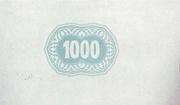 1000 Korona (Cash ticket, Szatmár-Németi) – revers