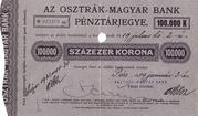 100 000 Korona (Csah Ticket, Pécs) – avers
