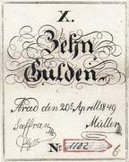 10 Gulden (Siege money, Arad) – avers