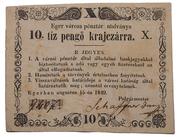 10 Pengő Krajczár (Eger) – avers