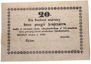 20 Pengő Krajczár (Kisszeben) – avers