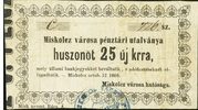 25 Krajczár (Miskolc) – avers