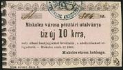 10 Krajczár (Miskolc) – avers