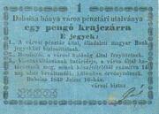 1 Pengő Krajczár (Dobsina) – avers