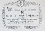 10 Krajczár (Jólsva) – avers