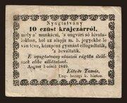 10 Krajczár (Munkács) – avers