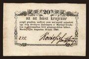 20 Krajczár (Murányalja) – avers