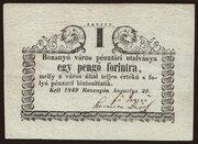 1 Forint (Rozsnyó) – avers