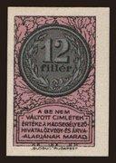 12 Fillér (Hadsegélyező Hivatal) – avers