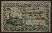 10 Fillér (Pécs) – avers