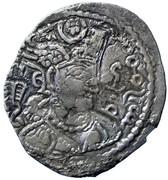 Drachm - Alchon Huns - Tobazini (Sassanian type, Warham IV imitation, Type 32, unknown mint) – avers