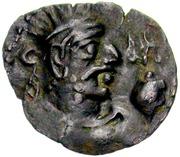 Drachm - Toramana (one-sided, Hadda mint) – avers