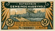 50 Pfennig (Husbyholz) – avers