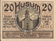 20 Pfennig (Husum) – avers