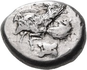Stater (Ialysos) – avers