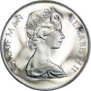 1 crown - Elizabeth II (Jubilé d'argent) -  avers